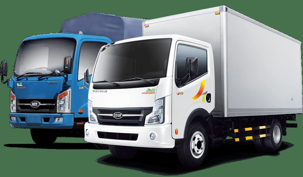 Xe tải vận chuyển đồ có kích thước đa dạng
