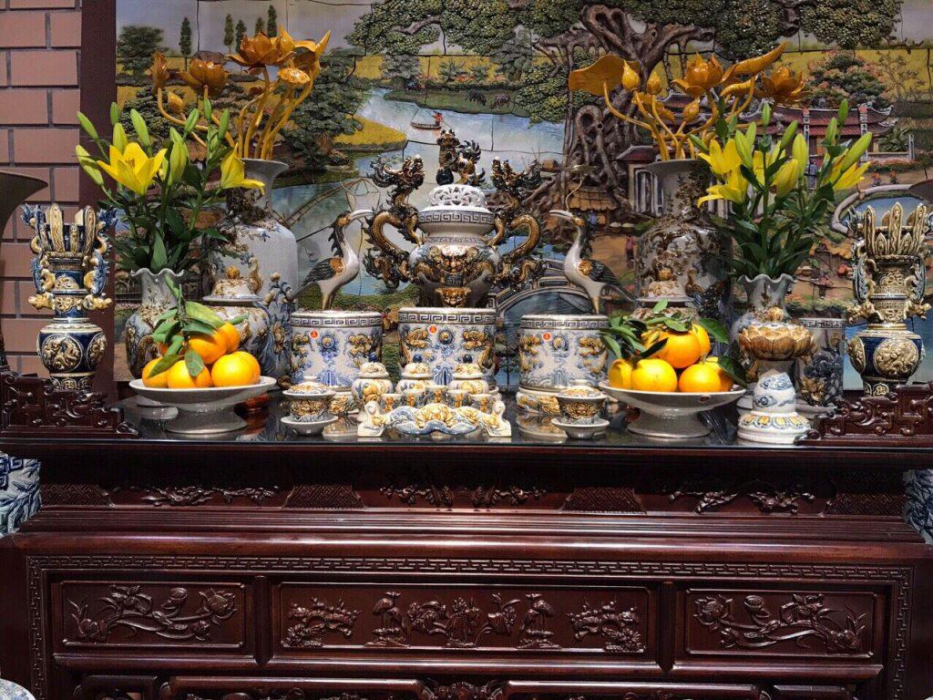 cách sắp xếp bàn thờ tổ tiên trong nhà