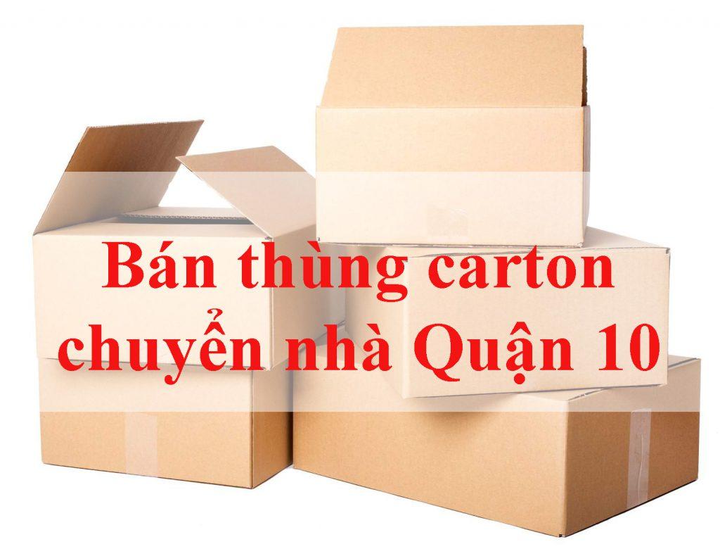 bán thùng carton chuyển nhà quận 10