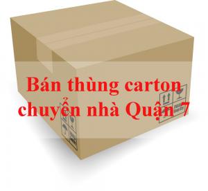 bán thùng carton chuyển nhà quận 7