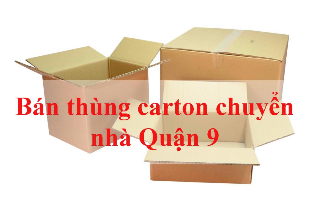 bán thùng carton chuyển nhà Quận 9