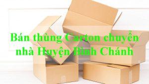 bán thùng carton chuyển nhà huyện Bình Chánh