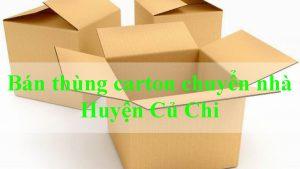 Bán thùng carton chuyển nhà huyện Củ Chi giá rẻ chất lượng