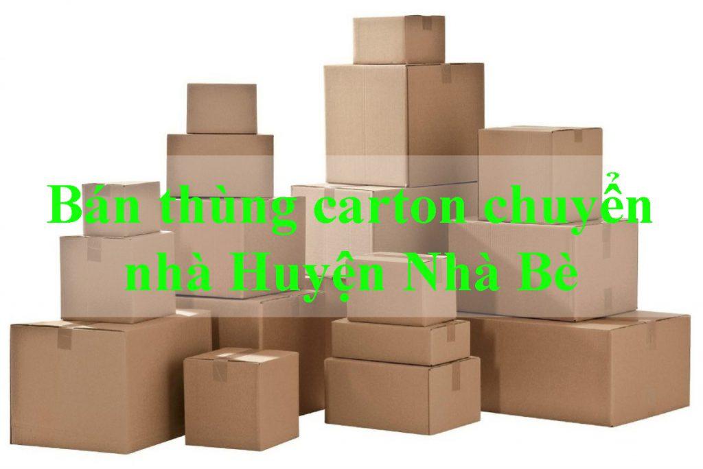 Taxi tải giá rẻ chuyển bán thùng carton chuyển nhà Huyện Nhà Bè