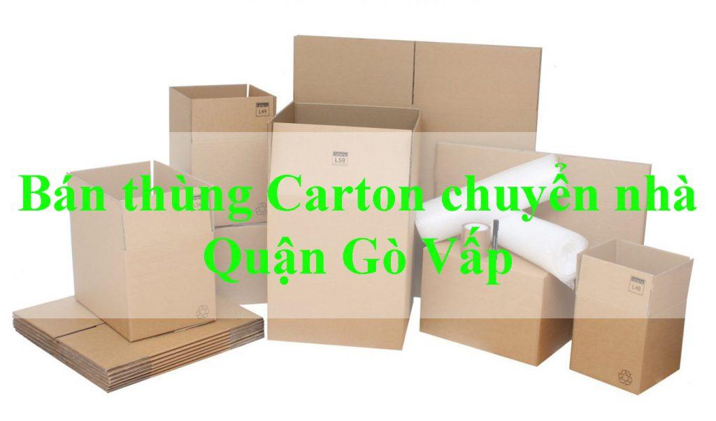 Bán thùng Carton chuyển nhà quận Gò Vấp