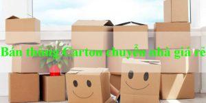 Bán thùng carton chuyển nhà Huyện Hóc Môn giá rẻ