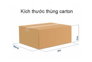 Kích thước thùng Carton