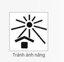 Ký hiệu tránh ánh nắng trực tiếp