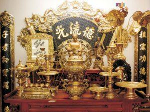 Ý nghĩa của bộ đỉnh đồng trong việc thờ cúng