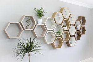 trang trí nhà bằng vật dụng hình tròn