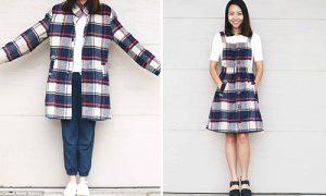 tái chế quần đồ cũ thành váy