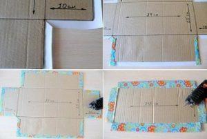 Bước 3 cách làm hộp quà bằng bìa carton