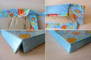 Trang trí hộp quà bằng bìa carton theo ý thích