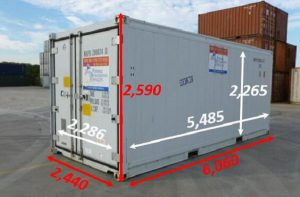 Kích Thước thùng Container 20 feet Lạnh