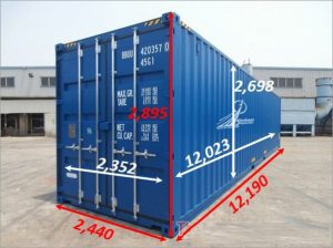 Kích Thước Container 40 feet Cao