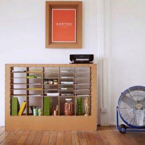Kệ tủ đồ handmade từ bìa carton